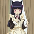 Kuroneko Cosplay (Maid) from Oreimo