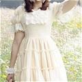 Lolita Dress (09030301-Q Ivory)