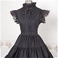 Lolita Dress (07030103-H Black)