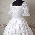 Lolita Dress (09030301-B White)