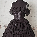 Lolita Dress (09030303-H Black)