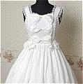 Lolita Dress (09030305-B White)