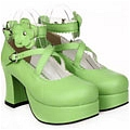 Lolita Shoes (Green 9603)
