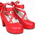 Lolita Shoes (Red 8280)