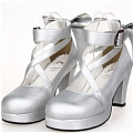 Lolita Shoes (Silver 8280)