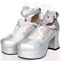 Lolita Shoes (Silver 9603)