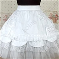 Lolita Skirt (08020300-H White  )
