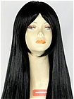Long Bang Black Straight Costume Wig (Shelby)