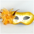 Masquerade Mask (Golden White 01)