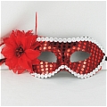 Masquerade Mask (Red Silver 02)