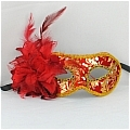 Masquerade Mask (Golden Red 01)