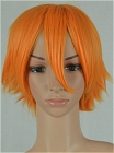 Medium Pumpkin Orange Costume Hair Wig (Grace)