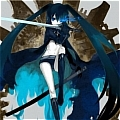 Black Rock Shooter Cosplay Da Black Rock Shooter