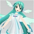 Miku Cosplay (Angel) Desde Project DIVA