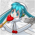 Miku Cosplay (Christmas Piano Cake) from Vocaloid
