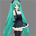 Miku Cosplay (Gothic) from Project DIVA