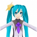 Miku Cosplay (Meteorite) from Hatsune Miku Project DIVA F 2nd