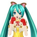 Miku Cosplay (Neko Neko Cape) Da Vocaloid Project DIVA F