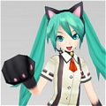 Miku Cosplay (Nyanko) from Hatsune Miku Project DIVA F 2nd