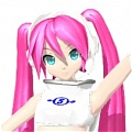 Miku Cosplay (Space Channel 5) from Hatsune Miku Project DIVA