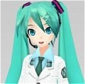 Miku Cosplay (Green) von Project DIVA