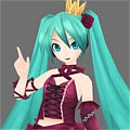 Miku Cosplay (Vintage Dress) Desde Project DIVA