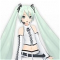Miku Cosplay (White Rocker) von Project DIVA