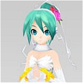 Miku Cosplay (White Wedding Dress) from  Vocaloid