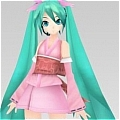 Miku Cosplay (Pink Kimono) Da Project DIVA