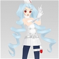 Miku Wig (Nurse) Desde Project DIVA