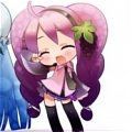 Miku Wig (Rainbow Miku, Grape) Da Vocaloid