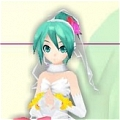 Miku Wig (White Wedding Dress) from Project DIVA