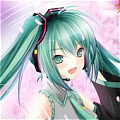 Miku Wig (Sakura,Mix Green) from Vocaloid