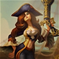 Miss Fortune Cosplay (Pirate Version) Da League of Legends