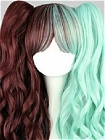 Mix Colour Wig (Long,Wavy,Clips on,A11)