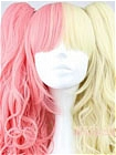 Mix Colour Wig (Long,Wavy,Clips on,A8)