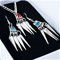 Mukuro Earrings and Necklace (Set) De   Katekyo Hitman Reborn