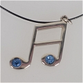Music Note Necklace (Blue) Da Vocaloid