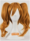 Orange Wig (Medium, Curly, Clip On)