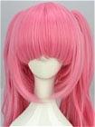 Pink Wig (Clips on, Medium, Wavy)