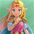 Princesse Zelda Cosplay (Pink) Desde The Legend of Zelda A Link Between Worlds