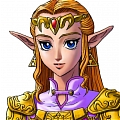 Princesse Zelda Cosplay De  The Legend of Zelda Ocarina of Time 3D