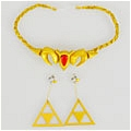 Princess Zelda Headwear and Earring Desde The Legend of Zelda Ocarina of Time 3D