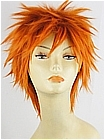 Pumpkin Orange Short Costume Hair Wig (Jonathan)