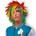 Rainbow Dash Cosplay (Blue) Da My Little Pony