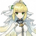 Saber Cosplay (Bride Version) Desde Fate Extra