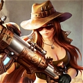 Safari Caitlyn Cosplay from League of Legends