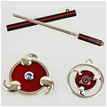 Sasuke Weapon Necklace (Set) Da Naruto Shippuuden