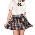School Girl Uniform (Plaid,Candice)