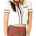 School Girl Uniform (Plaid,Red)